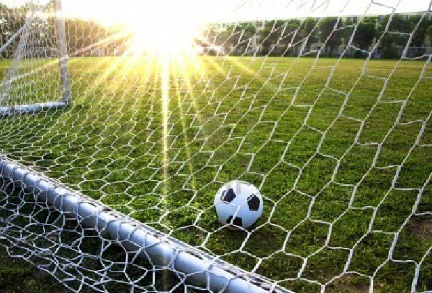 un-pallone-da-calcio-in-un-campo-di-erba-e-obiettivo